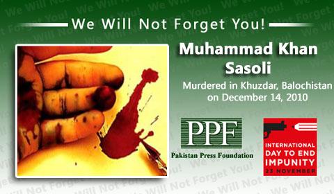 Authorities must act to stop Balochistan murders, says IFJ