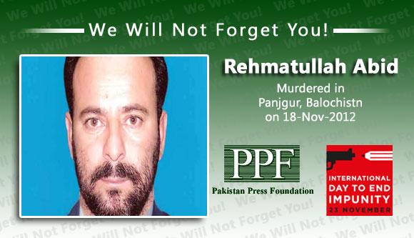 Journalist shot dead in restive province of Balochistan, Pakistan