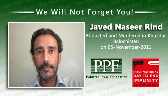 Abducted journalist found dead, tortured in Balochistan