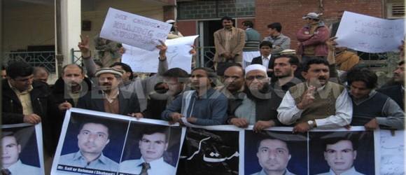 Peshawar journalists protest