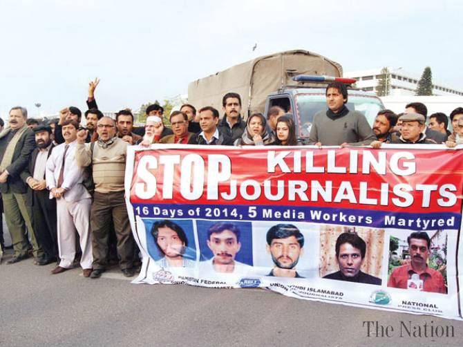 Journalists widely protest killings of colleagues