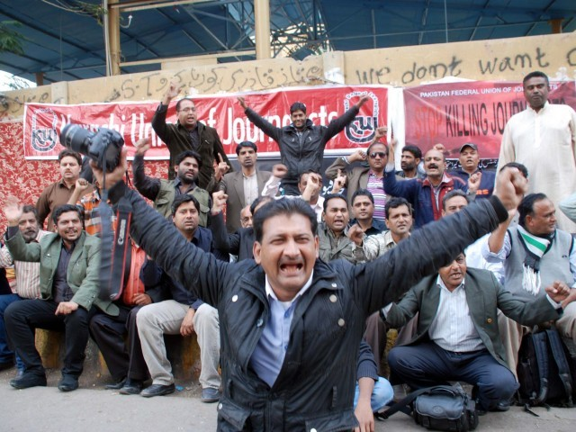 Journalists demand arrest of men behind Express workers' killings