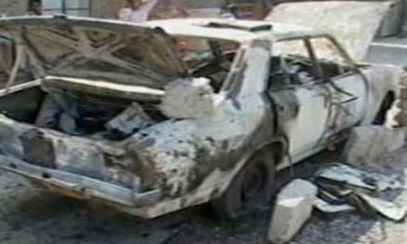 Daily Jang's vehicle set on fire in Rawalpindi