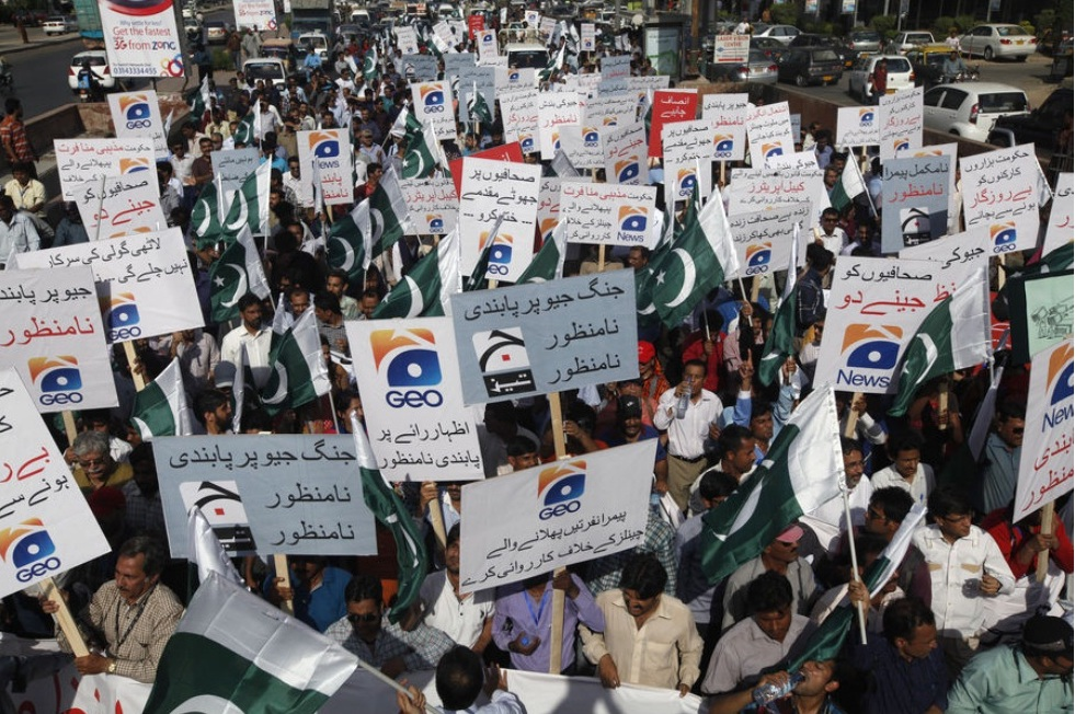 Pakistan Geo media group targeted by ongoing attacks